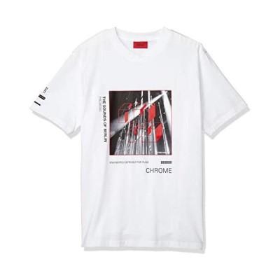 [ヒューゴ] Tシャツ/カットソー コレクションテーマプリント リラックスフィット Tシャツ メンズ (ホワイト 2XL)