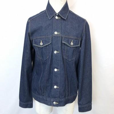 COEN コーエン L メンズ 男性 デニムジャケット Gジャン ジージャン トラッカージャケット ボタン留め 無地 長袖 服 綿100% ブルー 青