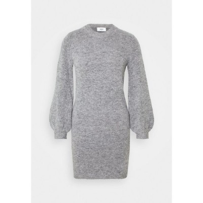 オブジェクト プティ ワンピース レディース トップス OBJEVE NONSIA DRESS  - Jumper dress - light grey melange