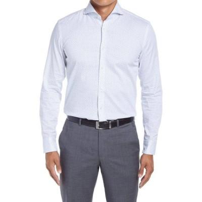 ヒューゴ ボス BOSS メンズ シャツ トップス Jemerson Slim Fit Neat Dress Shirt Light/Pastel Blue