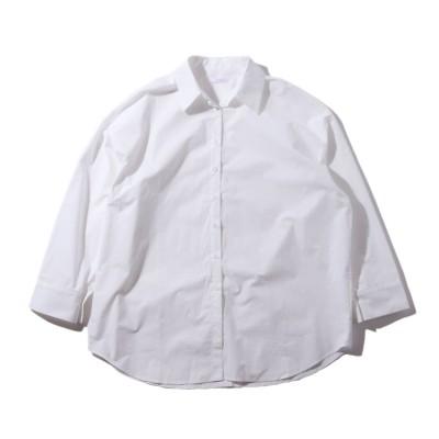 アトモス ピンク atmos pink atmos pink バックボタン カラーシャツ TX (WHITE)