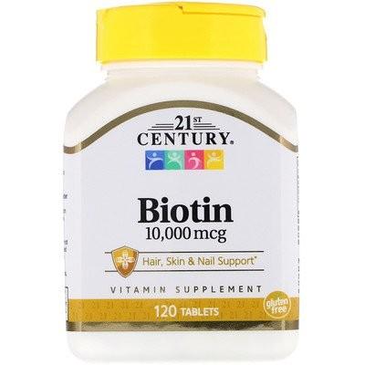 ビオチン、10,000mcg、120粒