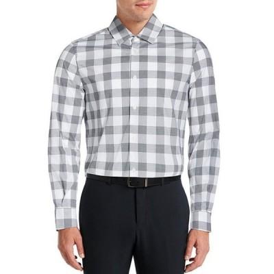 ペリーエリス メンズ シャツ トップス Buffalo Check Stretch Long-Sleeve Woven Shirt