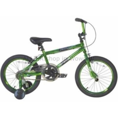 "BMX 18 ""創世記ボーイズクローム1.8 BMX自転車スチール(初心者用耐久性グリーンホイール付き)  18"" Genesis"
