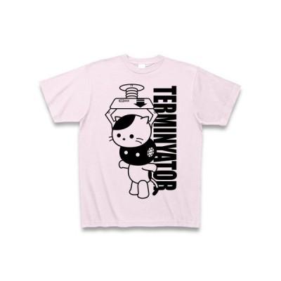 「ターミニャーター」ねこ Tシャツ(ピーチ)