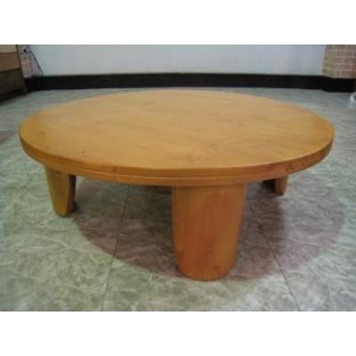 リビングテーブル 丸テーブル ちゃぶ台 座卓 フロアーテーブル パイン無垢 ナチュラル 100