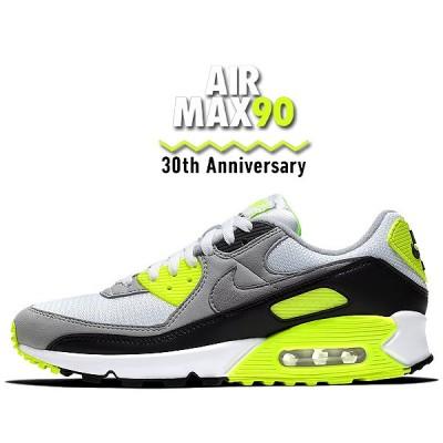 【ナイキ エアマックス 90 30周年】NIKE AIR MAX 90 30th ANNIVERSARY white/particle-volt-black cd0881-103