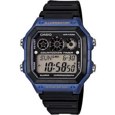 腕時計 カシオ Casio AE1300WH-2A メンズ レジン バンド World Time アラーム クロノグラフ Referee Timer 腕時計