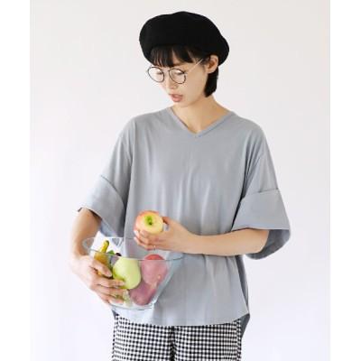 tシャツ Tシャツ デザインPlus ロールアップスリーブ ビッグTシャツ