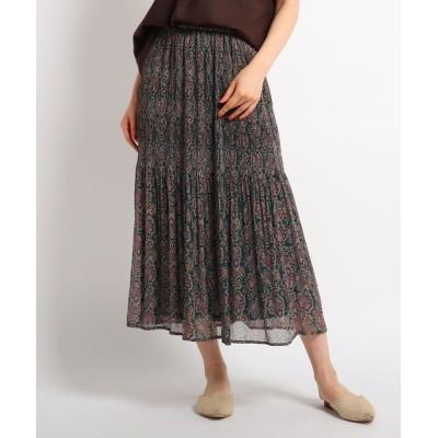 WORLD ONLINE STORE SELECT / ペイズリー楊柳ロングスカート WOMEN スカート > スカート