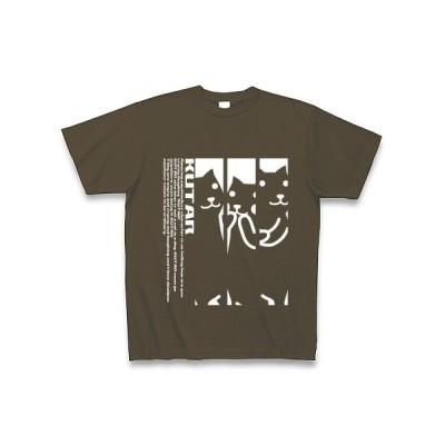 KUTAR Tシャツ Pure Color Print (オリーブ)
