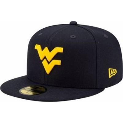 ニューエラ メンズ 帽子 アクセサリー New Era Men's West Virginia Mountaineers Blue 59Fifty Fitted Hat