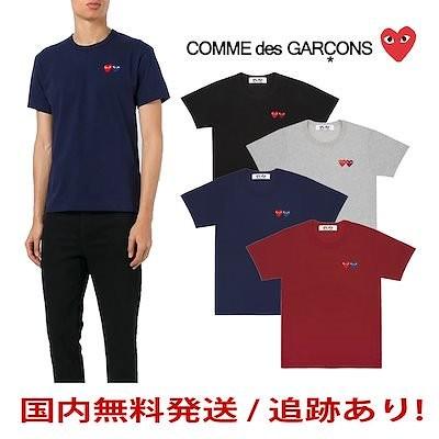 G9 会員専用 コムデギャルソン メンズ DOUBLE HEART Tシャツ 半袖 PLAY