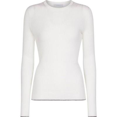 ガブリエラ ハースト Gabriela Hearst レディース ニット・セーター トップス Browning cashmere and silk sweater Ivory W/Navy