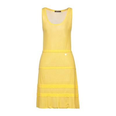 LA KORE ミニワンピース&ドレス イエロー S レーヨン 100% ミニワンピース&ドレス