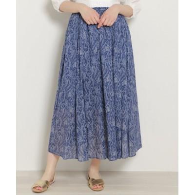 【ミューカ】 ペイズリー柄マキシギャザースカート レディース ブルー FREE mjyuka