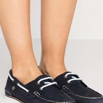 バブアー レディース 靴 シューズ BOWLINE BOAT SHOE - Boat shoes - navy