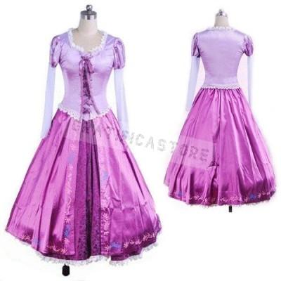 塔の上のラプンツェル 髪長姫 コスプレ衣装 コスチューム衣装 ドレス ハロウィン コスプレ プリンセス ワンピース プリンセス 大人用 文化祭