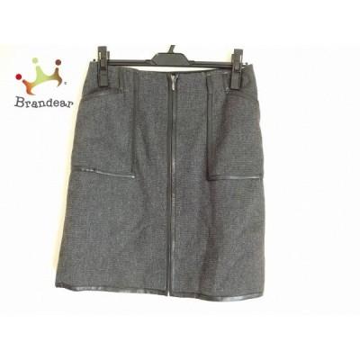 ルーニィ LOUNIE スカート サイズ38 M レディース 美品 ダークグレー×黒               スペシャル特価 20200302