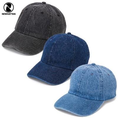 NEWHATTAN(ニューハッタン):ウォッシュド デニム キャップ/メンズ&レディース/ファッション 帽子