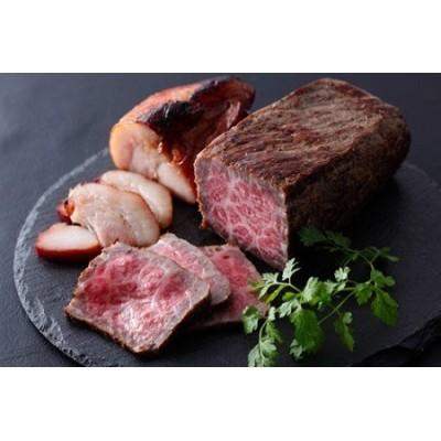 自家製志方牛ローストビーフ約300g 自家製焼き豚約300g
