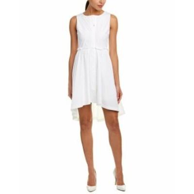 ファッション ドレス J.O.A . Ruffled Shirtdress M White