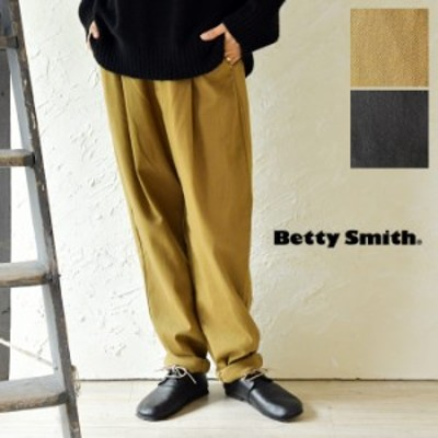 10%OFFクーポン 【Betty Smith ベティー スミス】コットン キャロット ストレッチ パンツ(baw5051b)