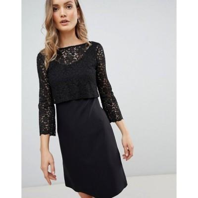 ジビロンドン レディース ワンピース トップス Zibi London 3/4 Sleeve Lace Shift Dress