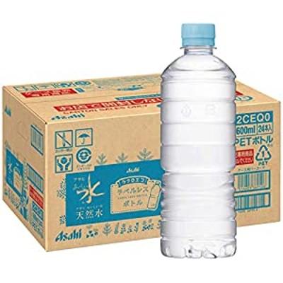 アサヒ飲料 おいしい水 天然水 ラベルレスボトル PET600ml24本