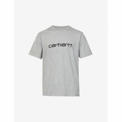 カーハート CARHARTT WIP メンズ Tシャツ トップス Logo-print cotton-jersey T-shirt GREY HEATHER