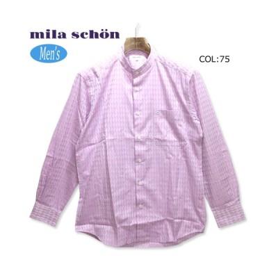 ミラショーン mila schon 31460-125 メンズ 長袖シャツ 立ち襟