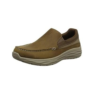 Skechers Men's HARSEN-ORTEGO Loafer, Desert, 10.5 Medium US