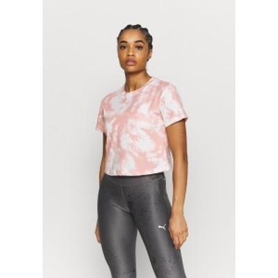 ゲス レディース Tシャツ トップス CROP MARBLE - Print T-shirt - light pink light pink