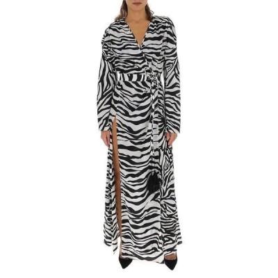 アティコ レディース ワンピース トップス Attico Zebra Printed Slit Dress -