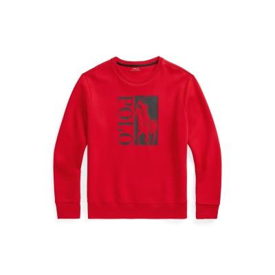 POLO RALPH LAUREN スウェットシャツ レッド M ポリエステル 58% / コットン 42% スウェットシャツ