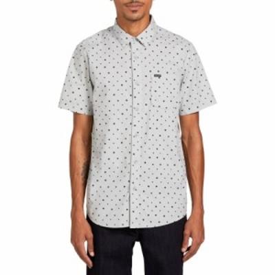 ボルコム VOLCOM メンズ 半袖シャツ トップス Hallock Short Sleeve Button-Up Shirt Tower Grey