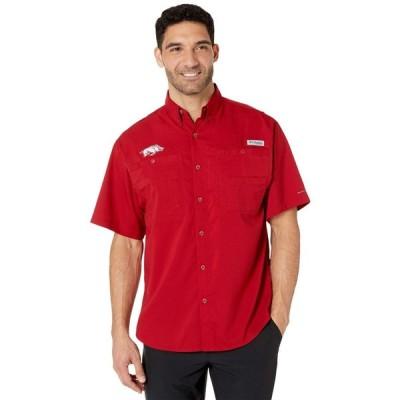 コロンビア Columbia College メンズ 半袖シャツ トップス Arkansas Razorbacks Collegiate Tamiami(TM) II Short Sleeve Shirt Red Velvet