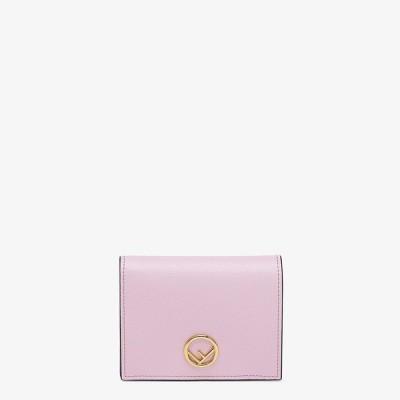 フェンディ FENDI 財布 小財布 二つ折り 2つ折り ライラック ゴールド カーフレザー