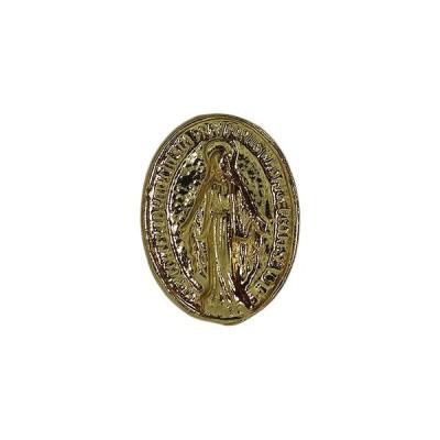 聖母マリア ピンズ 留め具付き ピンバッジ ラペルピン ピンバッチ ピンバッヂ 金色