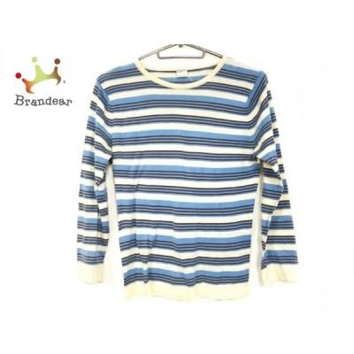 ジョンスメドレー JOHN SMEDLEY 長袖セーター サイズS レディース 美品 - ボーダー   スペシャル特価 20210108