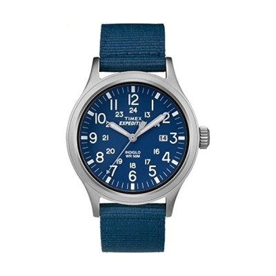 当店1年保証 タイメックスTimex Men's TW4B07000 Expedition Scout Tan/Blue Mixed Material Strap Watch