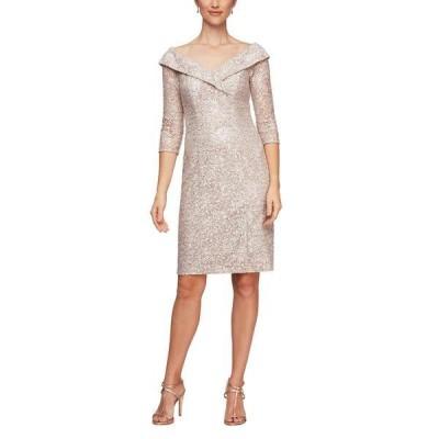 アレックスイブニングス レディース ワンピース トップス Off-the-Shoulder Sheath Dress