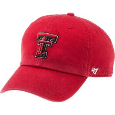 フォーティーセブン 帽子 アクセサリー メンズ '47 Men's Texas Tech University Clean Up Cap Red