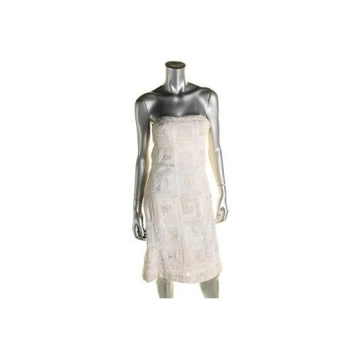 キャサリンマランドリーノ ドレス ワンピース キャットherine Malandrino 2702 レディース アイボリー メタリック ストラップless カジュアル ドレス 4 BHFO