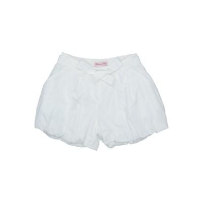 MISS BLUMARINE ショートパンツ ホワイト 3 コットン 97% / ポリウレタン 3% ショートパンツ