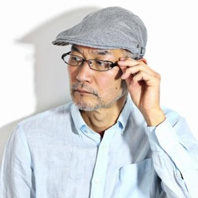 DAKS ヘリンボン 春 夏 ハンチング DAKS 帽子 メンズ 麻混 涼しい アイビーキャップ 小さいサイズ