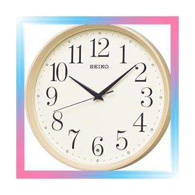 ブラウン セイコー クロック 掛け時計 電波 アナログ 薄茶 木目