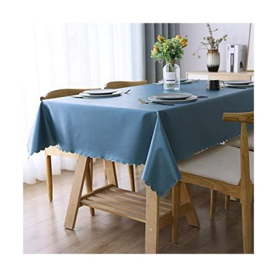 Smiry 丈夫なビニールテーブルクロス 防水 耐油性 無地 拭き取り可能なテーブルクロス 洗濯可能なテーブルカバー 屋内・屋外用  60インチ×12