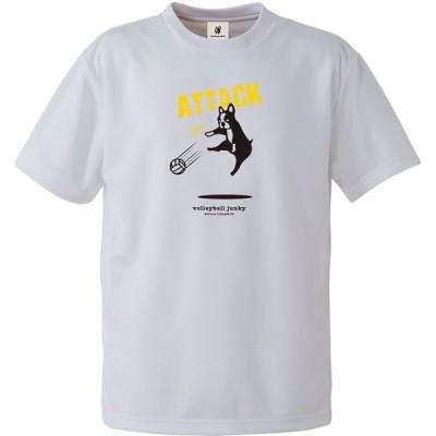 soccer junky 半袖Tシャツ(ホワイト・サイズ:M) Vollerball Junky メンズ アタックチャンス+2 DryTEE バレーボール SKU-VJ20011-1-M 返品種別A