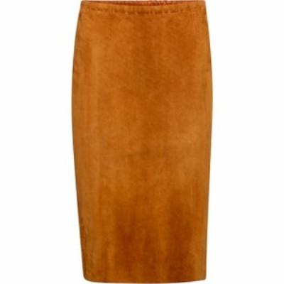 ストールス Stouls レディース ひざ丈スカート スカート gilda high-rise suede midi skirt Brandy